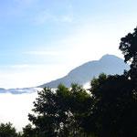 Vista desde la mitad del volcán...