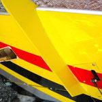 """Detail Tragflächen-Stabilisatoren (Unterseite) """"Montiert"""""""