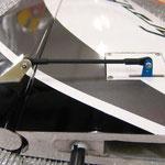 Detail Seitenruderservo-/Anlenkung-/Abdeckung