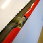 Detail Ruderanlenkung-/Horn