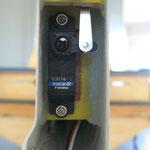 Detail Seitenleitwerksabschluss-/Höhenruderanlenkung