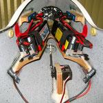 RC-Stromversorgung (2x 2 Stk. Lipo/5'400mAh/7,4V, total 21'600mAh)