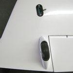 Randbogen mit Radschutz und Stecker für Rauchpatrone