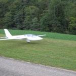 Fertiges Modell beim ersten Landeanflug
