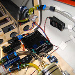 Detail RC-Einbaubrett mit Einbauten (PowerBox/Gyro etc.)