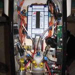 Detail RC-und Turbinenkomponenten-/Technick im Kabinenbereich