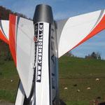 """Fertiges Modell """"Detail Oberseite Leitwerk"""""""