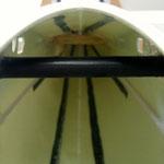 Druckstege im Rumpf zur Tragflächen-Aufnahme