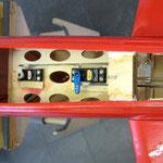 Detail Servo-/Anlenkung Höhenleitwerk