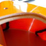 Motordomspant nicht sauber mit GFK-Front verbunden (hohle Stellen)