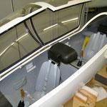Cockpit im Lieferzustand