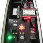RC-Einbaubrett und Akkuhalterung mit DPSI Ampere-/HUB-4-/Tankschalter