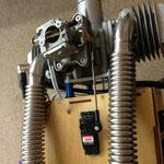 """Gasservo-/Anlenkung und Auslassstutzen Abgasanlage """"Montiert"""""""