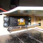 Flap/Landeklappen (Tragfläche) Detail Servo-/Anlenkung