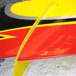 """Detail Tragflächen-Stabilisatoren (Oberseite) """"Montiert"""""""