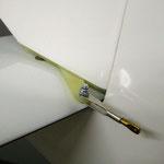 Detail Seitenruderanlenkung