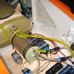 Detail RC-Einbaubrett mit Einbauten (Hoppertank)