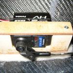 Detail Schleppkupplung-Servohalter-/Anlenkung