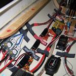 """Detail fertige RC-Installation im Kabinenbereich """"Montiert"""""""