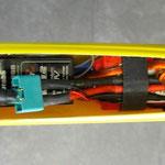 Einbau Antrieb-/Regler-/Empfänger-/Akkuhalter