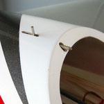 """Detail Kabinenhauben-Verriegelung """"Vorne"""""""