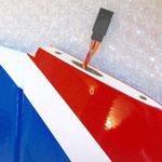 RC-Stecker für Höhenruderservo