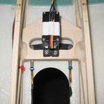 Detail Servo-/Anlenkung Bugfahrwerk