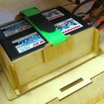 Akkuhalter für 2x RX und 2x Zündungs-Akkus