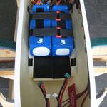 RX-Akku-und Flugakkuhalter mit 2x 6S-Lipo, 5'000mAh