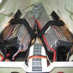 Flug-Akkuhalter in Rumpfnase (2x TP 5'000mAh, 5S)