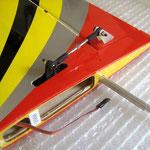 Detail Servo-/Anlenkung Höhenruder