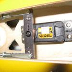 Seitenruder Detail Servo-/Anlenkung