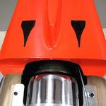 """Detail Turbine JetCat P160 """"Trichtereinlass/Abluftöffnungen"""""""