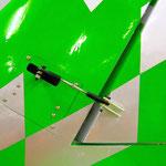 Seitenleitwerk Detail Seitenruderanlenkung