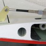 Detail Höhenruder-/Servo-/Anlenkung