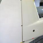 Montiertes Seitenruder (Lagerung 3mm CFK-Rohr)