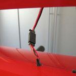 Detail Seitenruderservo RC-Verbindung
