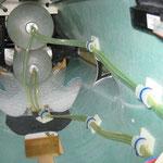 Detail Leitungsverlegung Kerosin-und Rauchoiltank