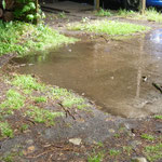 Huch! Ein See auf dem Hof!