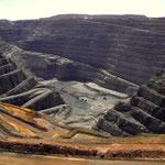 Vue de'une mine d'or géante en Australie