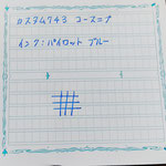 カスタム743 コースニブ インク:パイロットブルー表