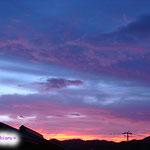太陽があがってくるとピンク紫がなくなってきますね。