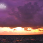 南国夕景の紫とオレンジのコラボレーション美しい!!