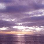 紫に空雲海が染まってて、幻想的に美しい!!!