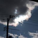 分厚い雲じゃなかったら、光環が出たかも?