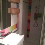 """salle d'eau """" chambre """" fleurs"""""""