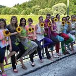 Meine wunderbare Gruppe des Moduls Yoga für Kindergartenkinder