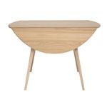 No,37384 ドロップリーフテーブル サイズ:W620-1200 D1100 H730㎜