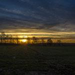 Sonnenaufgang zwischen Esbeck und Helmstedt
