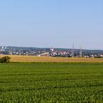 Schöningen aus der Feldmark gesehen